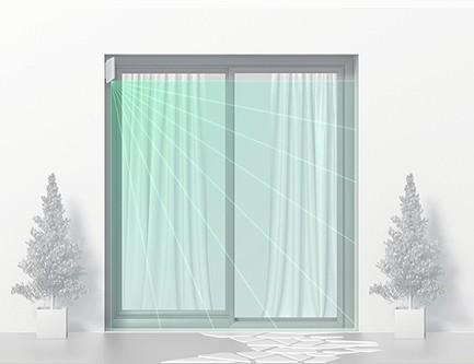 Détecteur de mouvement rideau sans fil Ajax