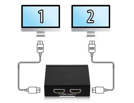 Splitter HDMI 4K - 1 entrée / 2 entrées - Dahua