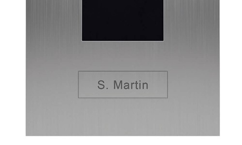 Portier vidéo IP wifi multi-utilisateurs - 1 sonnette - Doorbird D2101V Titane