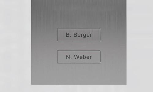Portier vidéo IP wifi multi-utilisateurs - 2 sonnettes - Doorbird D2102V Blanc