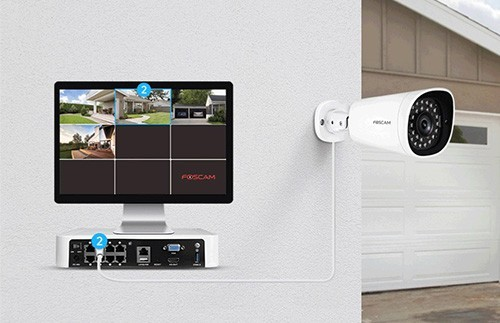 Kit de vidéosurveillance NVR 4 caméras FN7118E-B4-1T