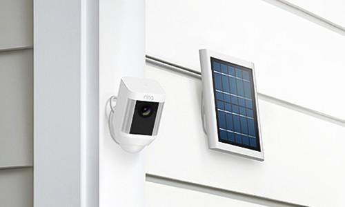 Chargeur solaire pour caméra extérieure Spotlight Ring