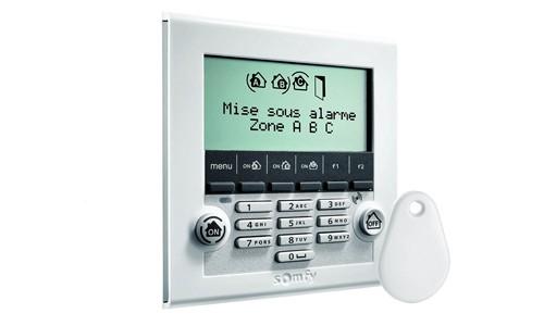 Clavier LCD alarme Somfy Protexiom Online Premium